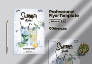 Mojito Drink – Free Party PSD Flyer Template