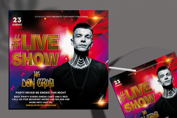 Music Show Free PSD Flyer Template