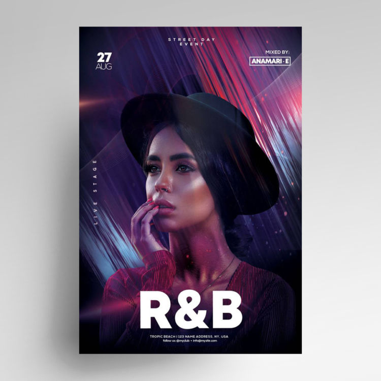 Music Vibe Free Party PSD Flyer Template