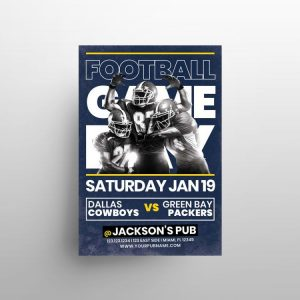 NFL Football Game Free PSD Flyer Template