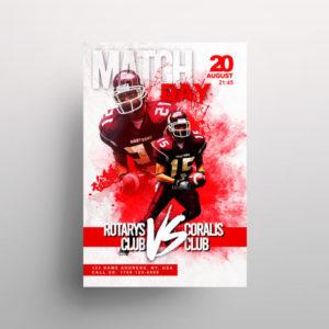 NFL Match Free PSD Flyer Template