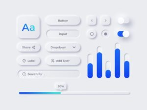 Neumorphic UI Elements Free For Sketch