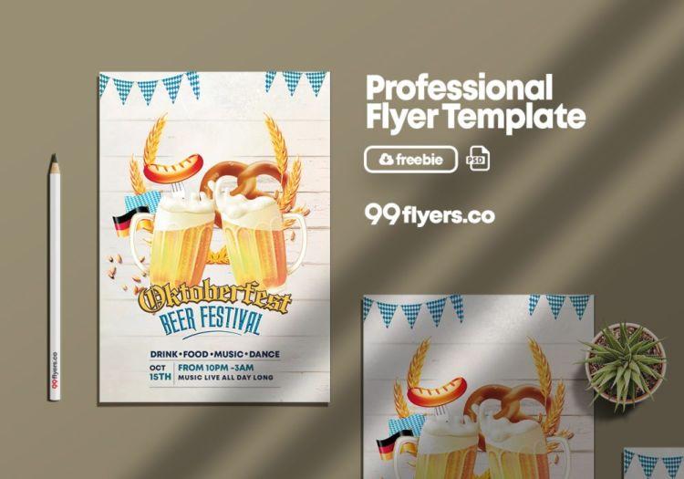 Oktoberfest Beer Festival Free Flyer Template