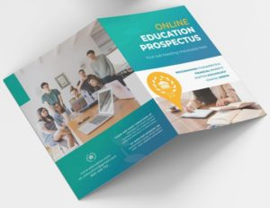 Online Education Free Bi-Fold Brochure