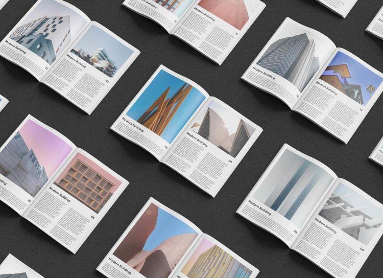 Open Magazine Free Mockup Set