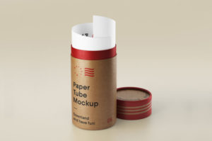 Open Paper Tube Free Mockup