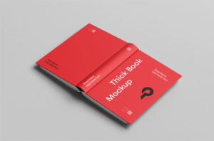 Opened Cover Book Free Mockup