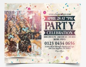 Party House Free PSD Flyer Template