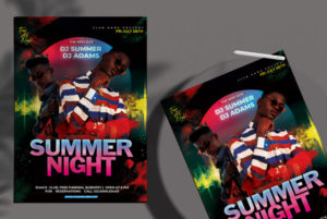 Party Night Freebie PSD Flyer Template