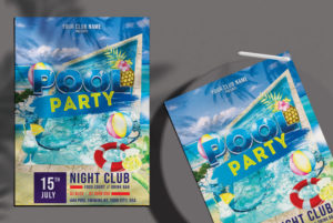 Party in Pool Free PSD Flyer Template