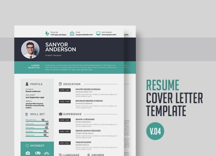 Personal Resume Free InDesign Template