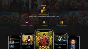 PhotoPlay Movie XD Free UI kit