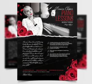Piano Lessons Free PSD Flyer Template