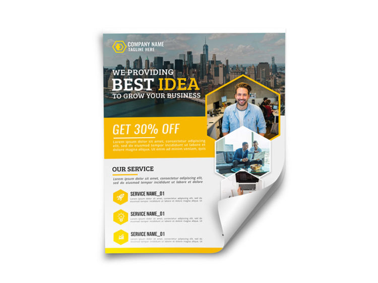 Professional Corporate Free PSD Flyer Template