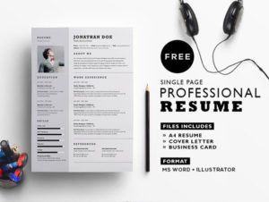 Professional Resume Template Free in AI & MS-Word