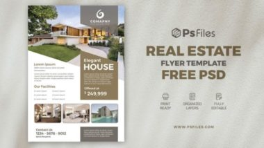 Properties Real Estate Free PSD Flyer Template
