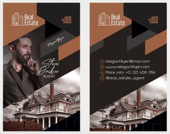 Real Estate Agent Free PSD Business Card