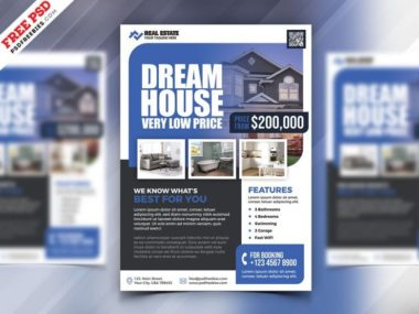 Real Estate Marketing Free PSD Flyer Template