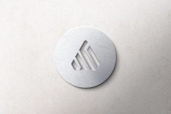 Realistic 3D Logo Free Mockup