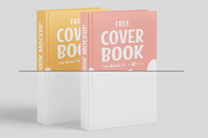 Realistic Book Cover Free Mockup vol3