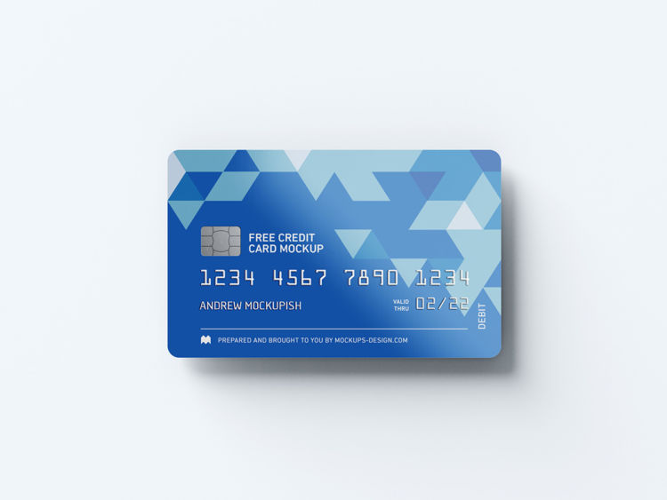 Realistic Credit Cards Free Mockup