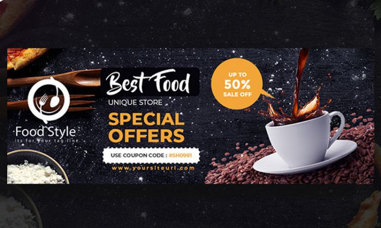 Restaurant Ad Free Facebook Cover (PSD)