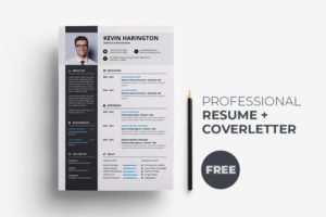 Resume & Coverletter Free InDesign Template