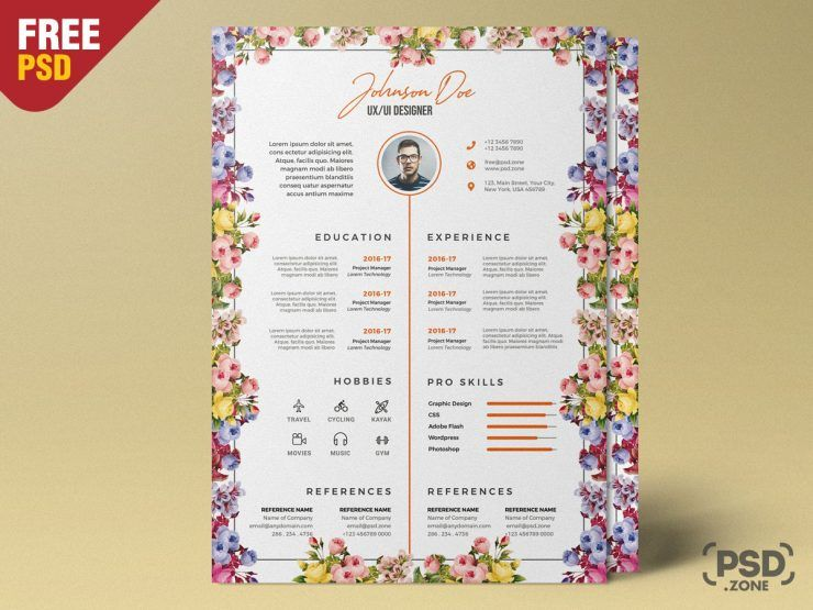Resume Design Free PSD Template