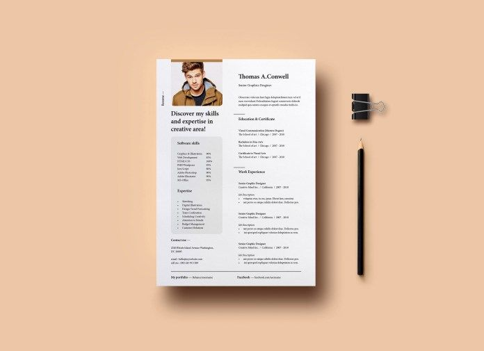 Resume Template Free Template for InDesign