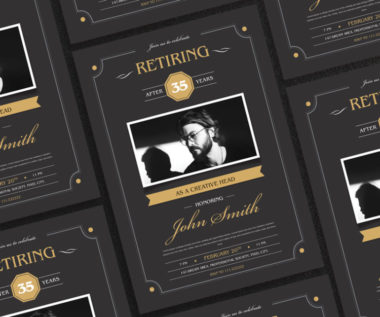 Retirement Invitation Freebie PSD Flyer Template