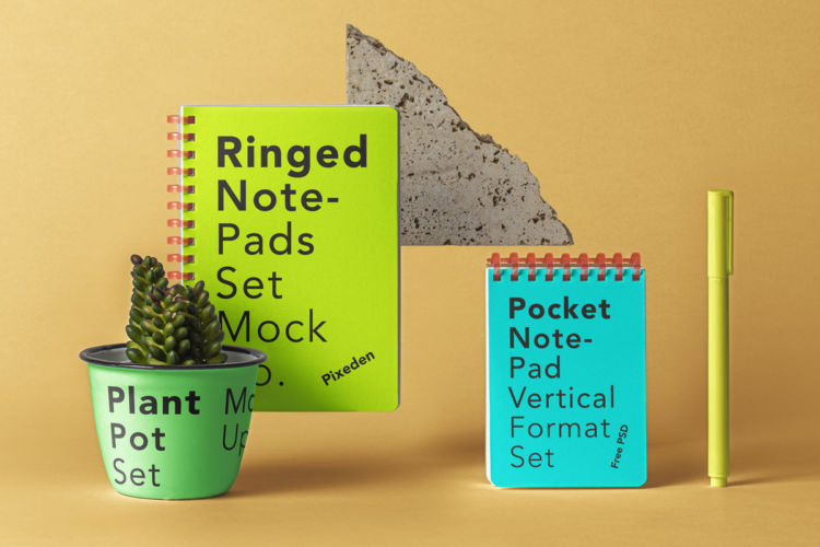 Ringed Notepad Free Mockup Set