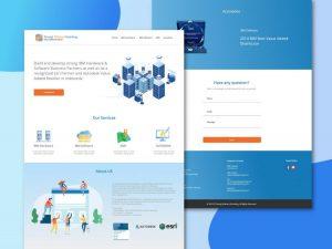 SWG Company Web Template Free XD