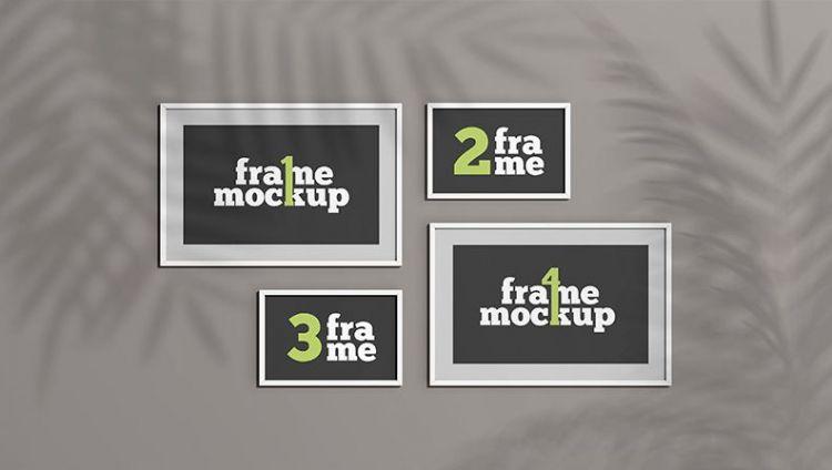 Set of Picture Frames Free Mockup