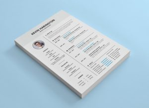 Simple Resume Free InDesign Template