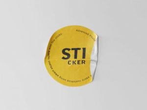Simple Sticker Freebie Mockup
