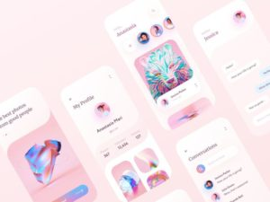Social Mobile App Design Free UI Kit