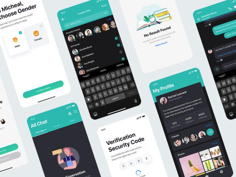 Sophie – Messaging Free XD UI kit demo