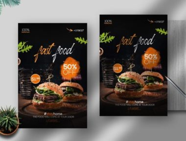 Special Offer Free Fast Food PSD Flyer Template