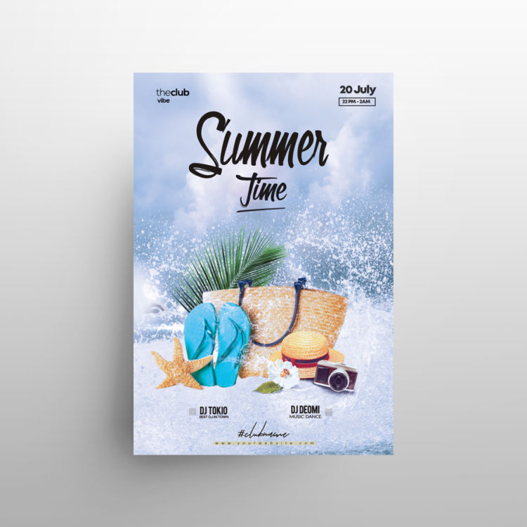 Splash Party - Free Summer PSD Flyer Template