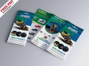 Sport Footwear Free Tri-Fold PSD Brochure