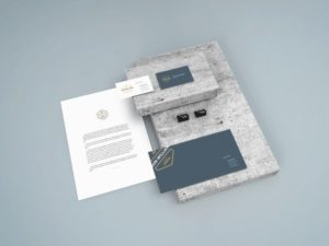 Stationery Scene Free Mockup vol6