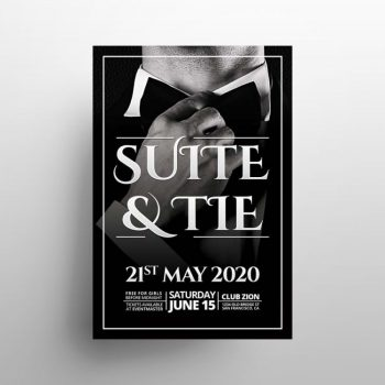 Suite & Tie Event Free PSD Flyer Template