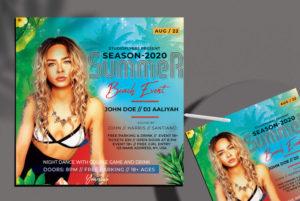Summer Beach Vol3 Free Flyer PSD Template