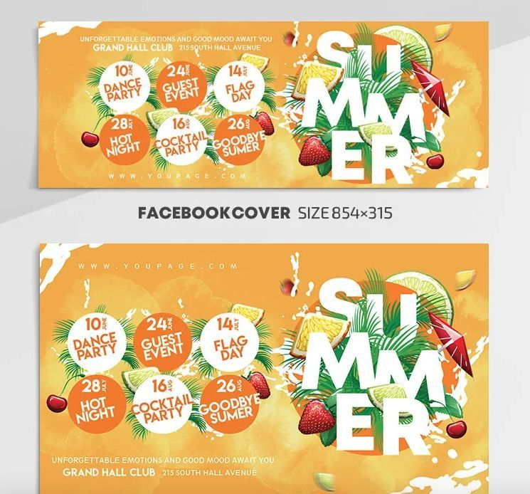Summer Event Free Facebook Covers & Posts