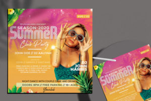 Summer Fever Freebie PSD Flyer Template