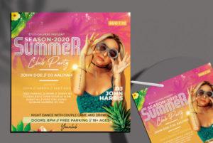 Summer Fever Freebie PSD Flyer Template