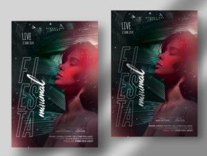 Summer Fiesta Free Artist PSD Flyer Template