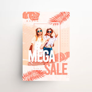 Summer Mega Sale Freebie PSD Flyer Template