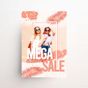 Summer Mega Sale Freebie PSD Flyer Template