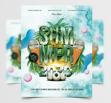 Summer Party 2020 Free PSD Flyer Template